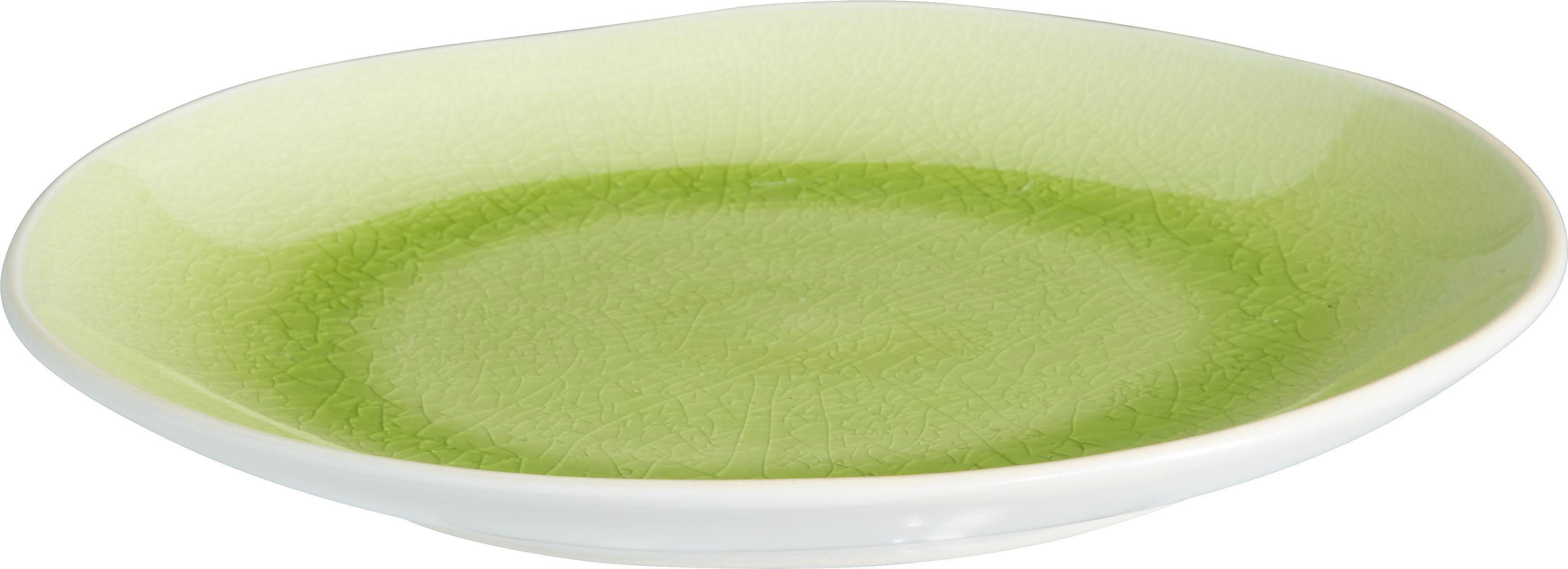 Desszertes Tányér Sina - fehér/zöld, Lifestyle, kerámia (22,5/2,4cm) - MÖMAX modern living