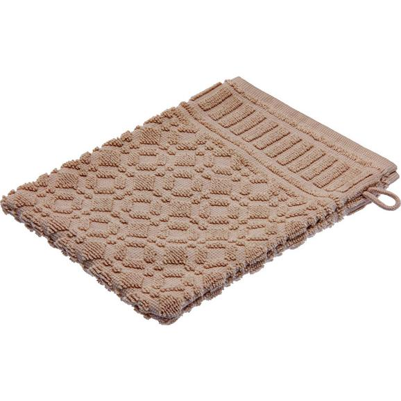 Waschhandschuh Carina Braun - Grau, ROMANTIK / LANDHAUS, Textil (16/21cm) - Mömax modern living