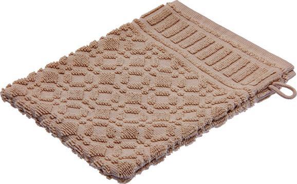 Waschhandschuh Carina in Braun - Grau, ROMANTIK / LANDHAUS, Textil (16/21cm) - MÖMAX modern living