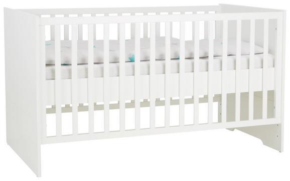 Gitterbett in Weiß, ca. 70x140cm - Weiß, MODERN, Holz (81/81/143cm) - Premium Living