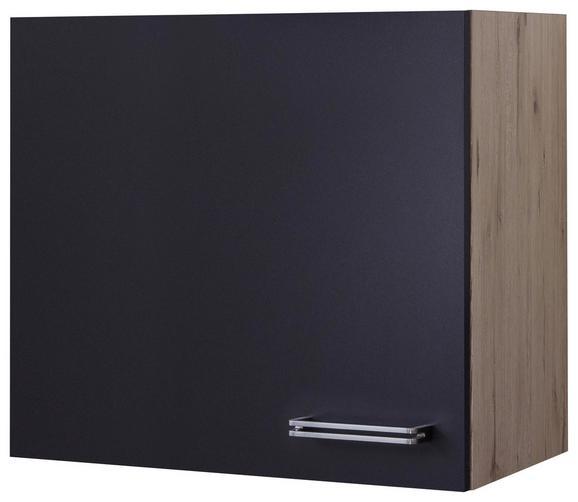 Kuhinjska Zgornja Omarica Milano - hrast/antracit, Moderno, kovina/leseni material (60/54/32cm)
