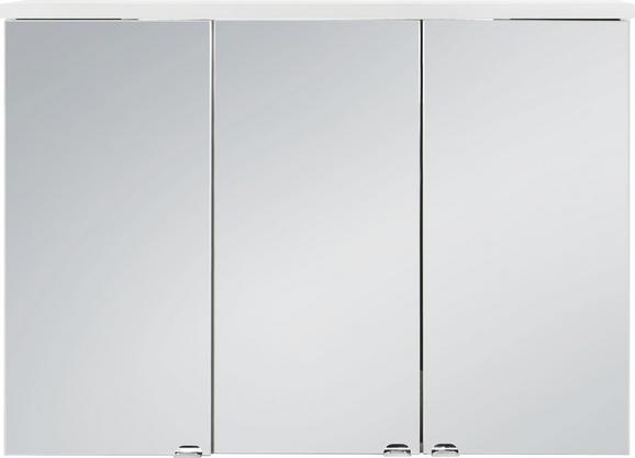 Omara Z Ogledalom Stream - bela, steklo/les (98/70/25cm) - Mömax modern living