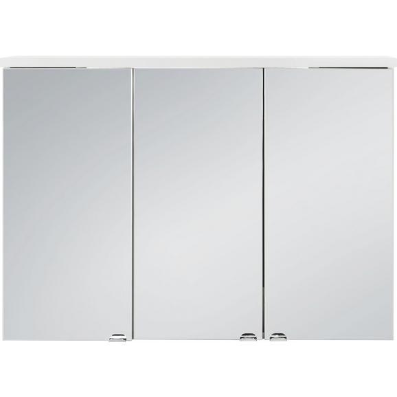 Spiegelschrank Weiß - Weiß, Glas/Holz (98/70/25cm) - Mömax modern living