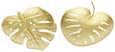 Dekoteller Emina Gold - Goldfarben, MODERN, Metall (10.5/12/1cm)