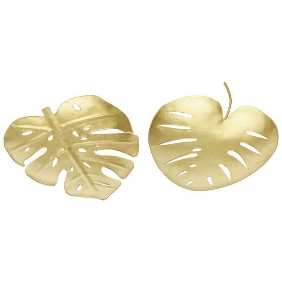 Okrasni Krožnik Emina - zlata, Moderno, kovina (10.5/12/1cm)