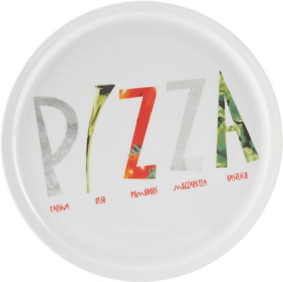 Pizzateller Adriano aus Keramik Ø ca. 30cm - Multicolor/Weiß, Keramik (30cm) - Mömax modern living