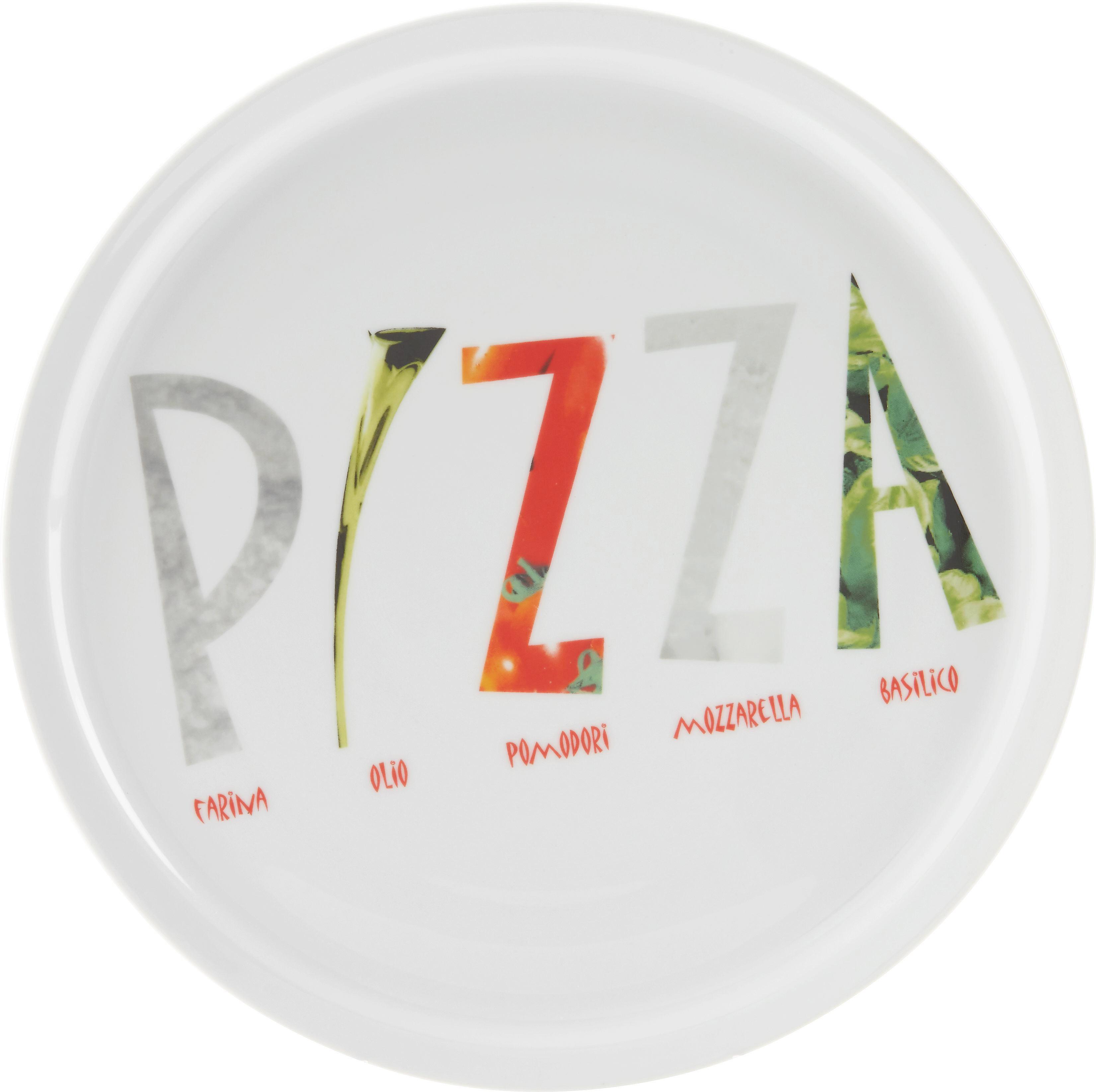 Pizzateller Adriano aus Porzellan - Multicolor/Weiß, Keramik (30cm) - MÖMAX modern living