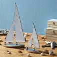 Dekoschiff Mara Silberfarben - Silberfarben, Metall (19/5,5/37cm)