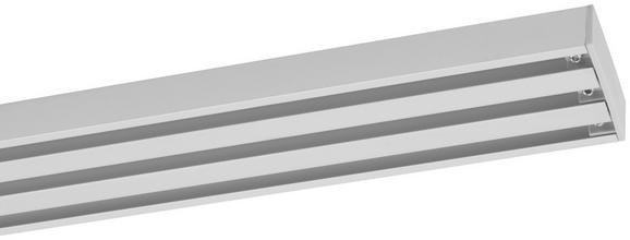Vorhangschiene Style in Alufarben, ca. 160cm - Alufarben, Metall (160cm) - Premium Living