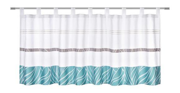 Kratka Zavesa Anita - modra, Konvencionalno, tekstil (50/145cm) - Mömax modern living
