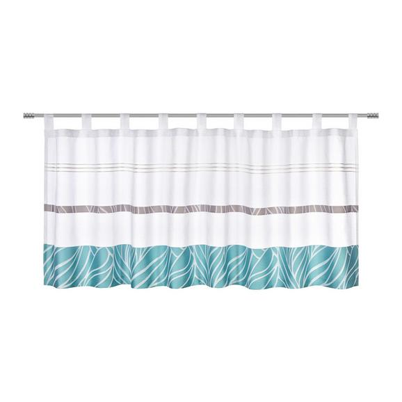 Kurzgardine Anita Blau, ca. 50x145 cm - Jadegrün, KONVENTIONELL, Textil (50/145cm) - Mömax modern living