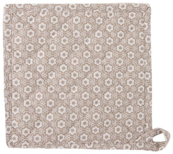 Topflappen Ameline Taupe - Taupe, ROMANTIK / LANDHAUS, Textil (20/20cm) - ZANDIARA