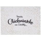 Postkarte Herzlichen Glückwunsch - Goldfarben/Weiß, Papier (14,8/10,5cm)