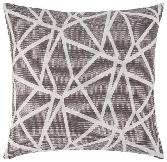 Zierkissen Renata ca. 50x50cm - Weiß/Grau, KONVENTIONELL, Textil (50/50cm) - MÖMAX modern living