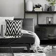 Coș Paula - negru, lemn/metal (30/31cm) - Modern Living