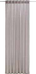 Zavesa Z Zankami Elsa - sivo rjava, Romantika, tekstil (140/245cm) - Mömax modern living