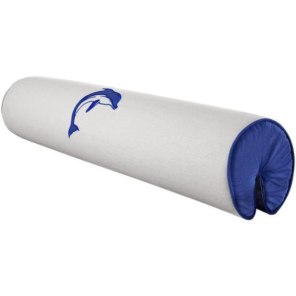NACKENROLLE NACKENROLLE - Blau/Weiß, Design, Textil (80/16/16cm)