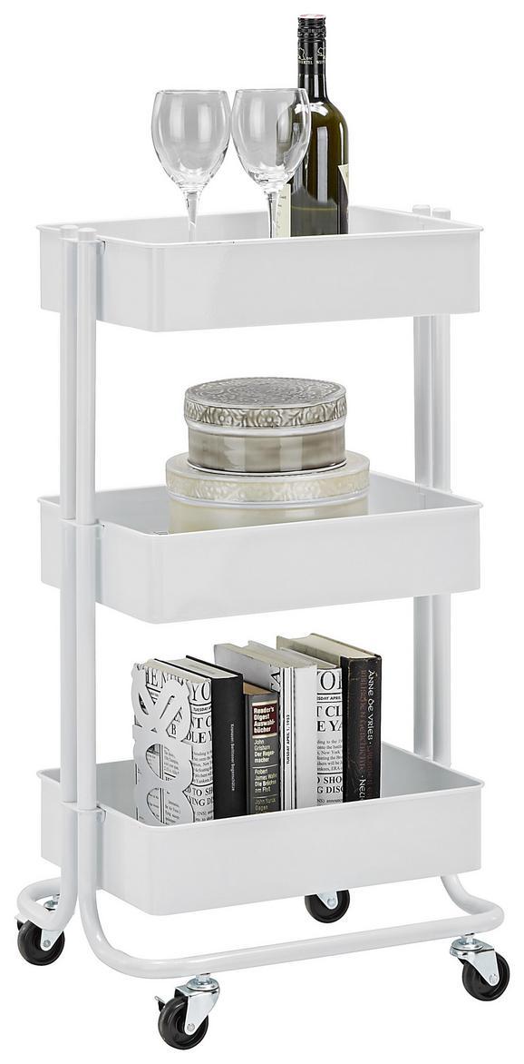 Allzweckwagen aus Metall - Weiß, MODERN, Kunststoff/Metall (43/78,5/35cm) - Mömax modern living
