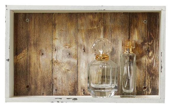 Wandregal Weiß - Weiß, MODERN, Holzwerkstoff (33/20/10cm)