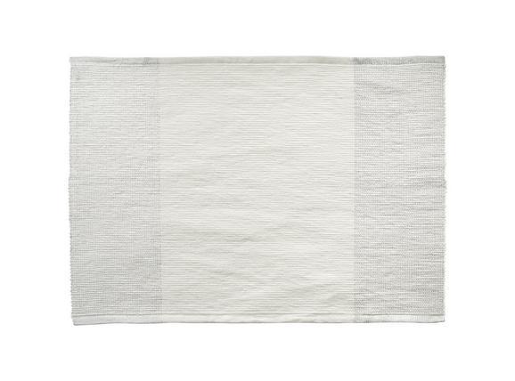 Tischset Brando in Offwhite, Silber - Silberfarben/Weiß, LIFESTYLE, Textil (33/45cm)