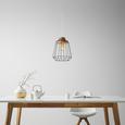 Hängeleuchte Jari, max. 60 Watt - Schwarz/Naturfarben, MODERN, Holz/Metall (25/120cm) - Mömax modern living