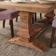 Esstisch aus Akazie Massiv - Naturfarben, LIFESTYLE, Holz (240/77/100cm) - Zandiara