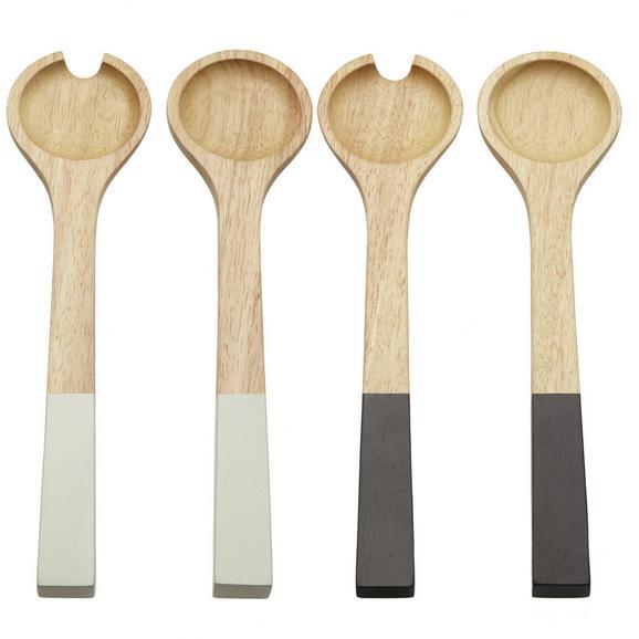 Salátás Készlet Sirikit - natúr színek/fekete, Lifestyle, fa (30cm) - Mömax modern living
