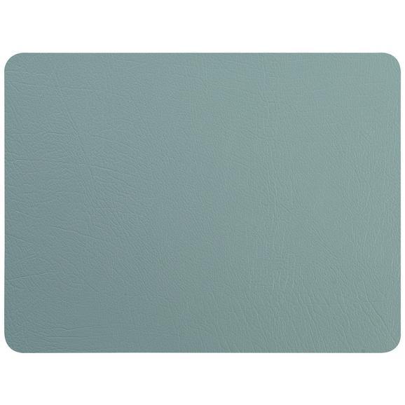 Tischset Jette aus Leder in Blau - Blau, Leder (33/42cm) - Premium Living