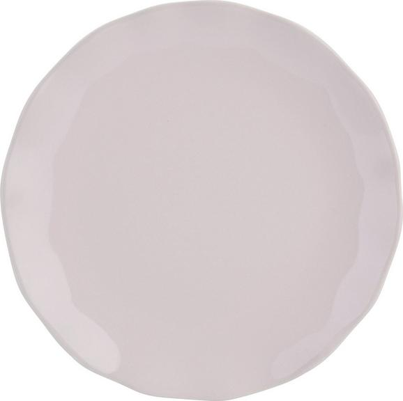 Desertni Krožnik Pauline - roza, Romantika, keramika (19cm) - Zandiara