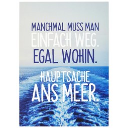 Postkarte Statements in Blau - Multicolor, Papier (10,5/14,8cm) - VS Visual Statements