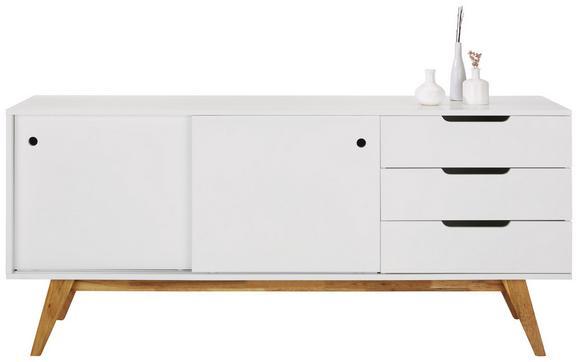 Komoda Durham - naravna/bela, Moderno, leseni material/les (180/80/45cm) - Mömax modern living