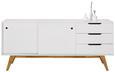 Sideboard in Weiß/Eichefarben - Eichefarben/Weiß, MODERN, Holz/Holzwerkstoff (180/80/45cm) - Mömax modern living