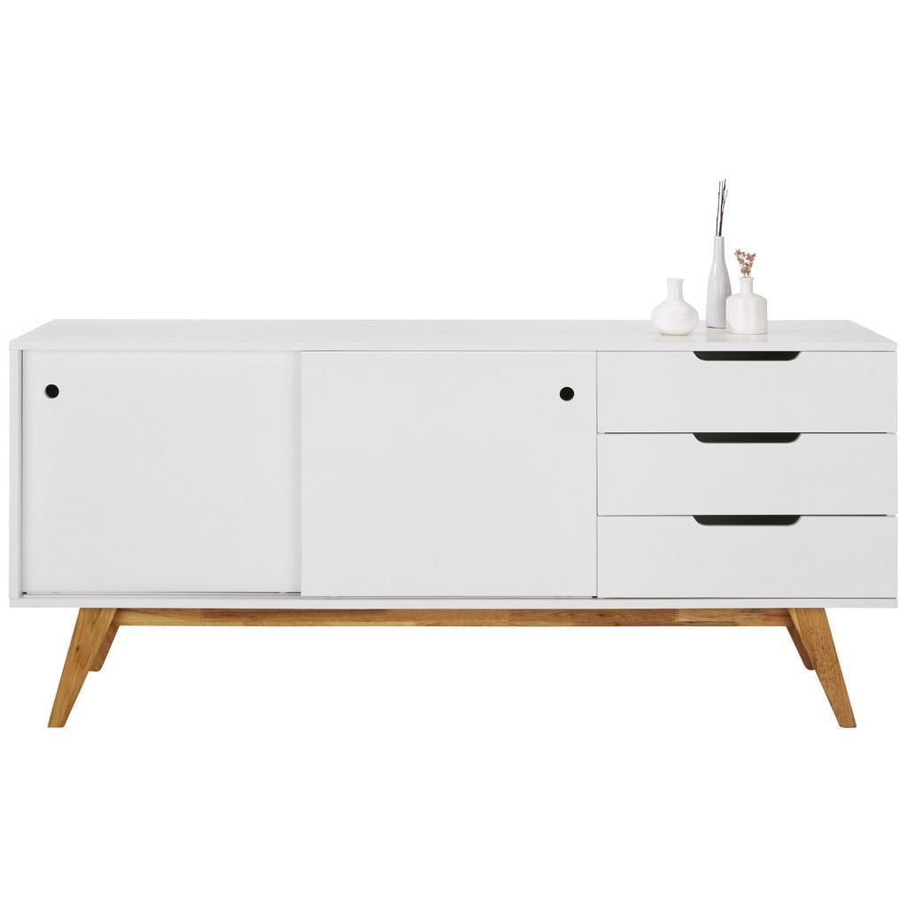 Sideboard Natur/Weiß