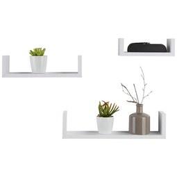 Wandboardset in Weiß, 3-teilig - Weiß, Holzwerkstoff (42/32/22/10/10/8,5/7cm) - Modern Living