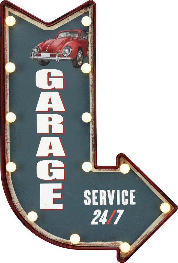 Dekor Tábla Garage - Zöld, Faalapú anyag/Műanyag (41/61/5,5cm)