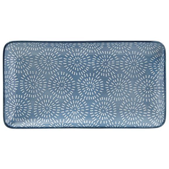 Platou Nina - albastru, ceramică (12/22cm) - Modern Living