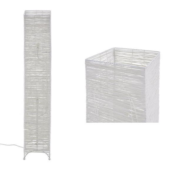 Stehleuchte Fatima, max. 40 Watt - Weiß, ROMANTIK / LANDHAUS, Textil/Metall (20/20/116cm) - Mömax modern living