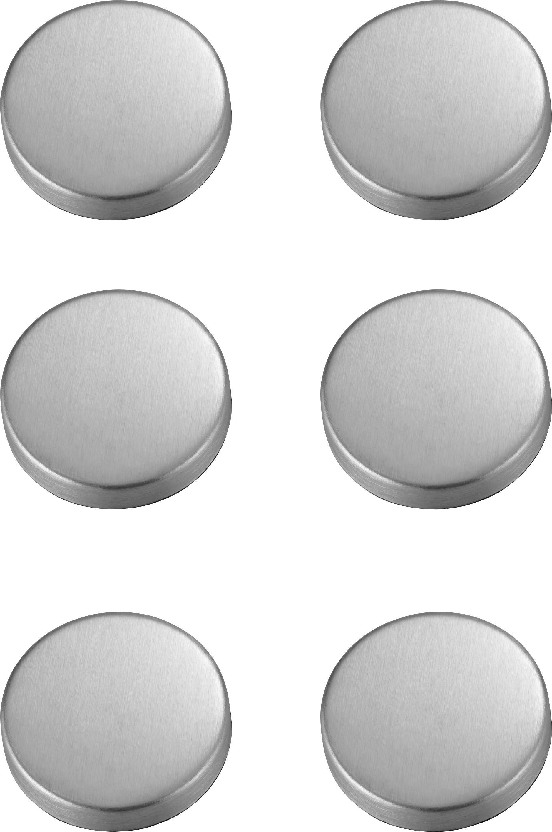 Magnet Maggie - Edelstahlfarben, Metall (3,2cm) - MÖMAX modern living