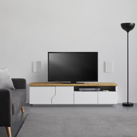 TV-ELEMENT in weiß 'Carlos' - Eichefarben/Weiß, MODERN, Holz (180/46,5/42cm) - Bessagi Home