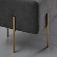 Sitzbank Haley - Dunkelgrau/Goldfarben, MODERN, Holz/Textil (160/44/36cm) - Bessagi Home