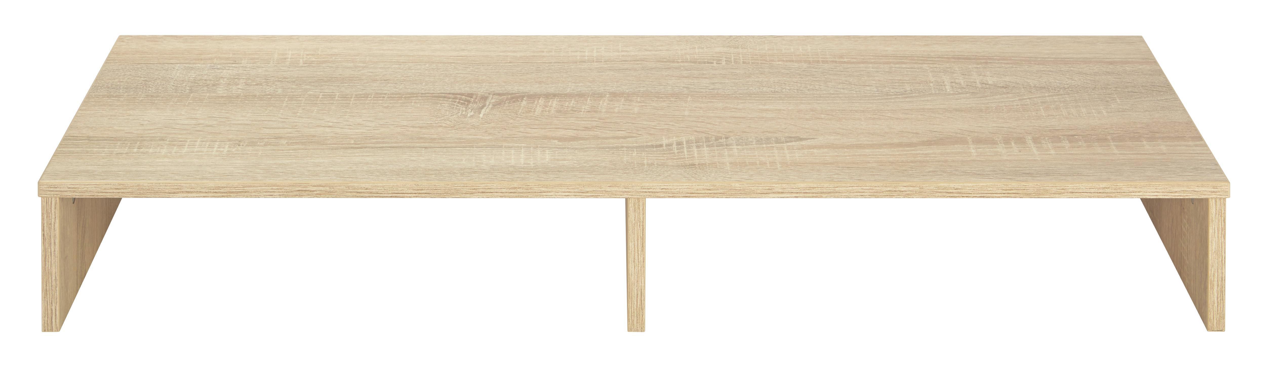 TV-Aufsatz Holz - Eichefarben, Holz (99/14/34cm) - MÖMAX modern living