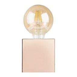 Veioză Eni - arămiu/culoare crom, Modern, plastic/metal (10/10/10cm) - Modern Living
