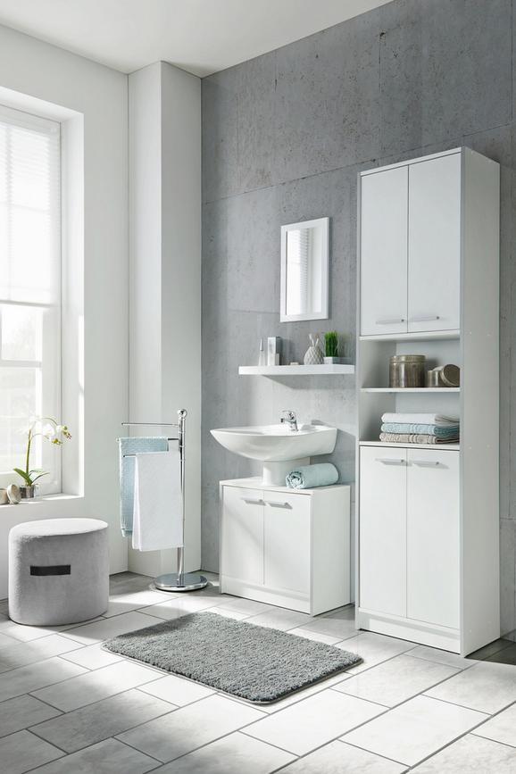 Waschbeckenunterschrank perlweiß - Holzwerkstoff (60/56/29cm) - Based