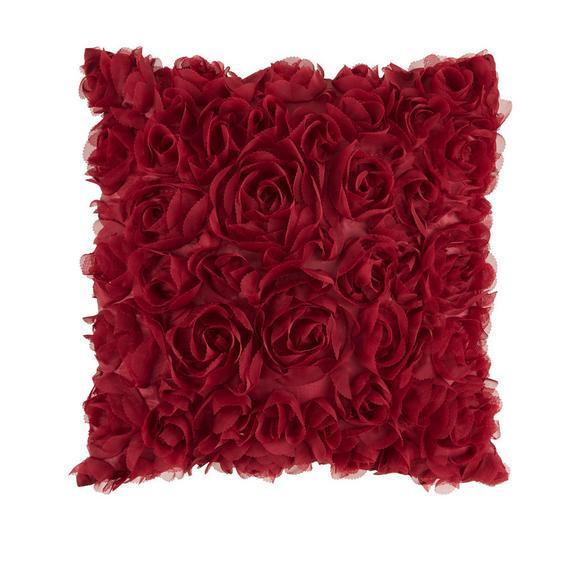 Zierkissen Rosalinde in Bordeaux - Bordeaux, ROMANTIK / LANDHAUS, Textil (40/40cm) - Mömax modern living