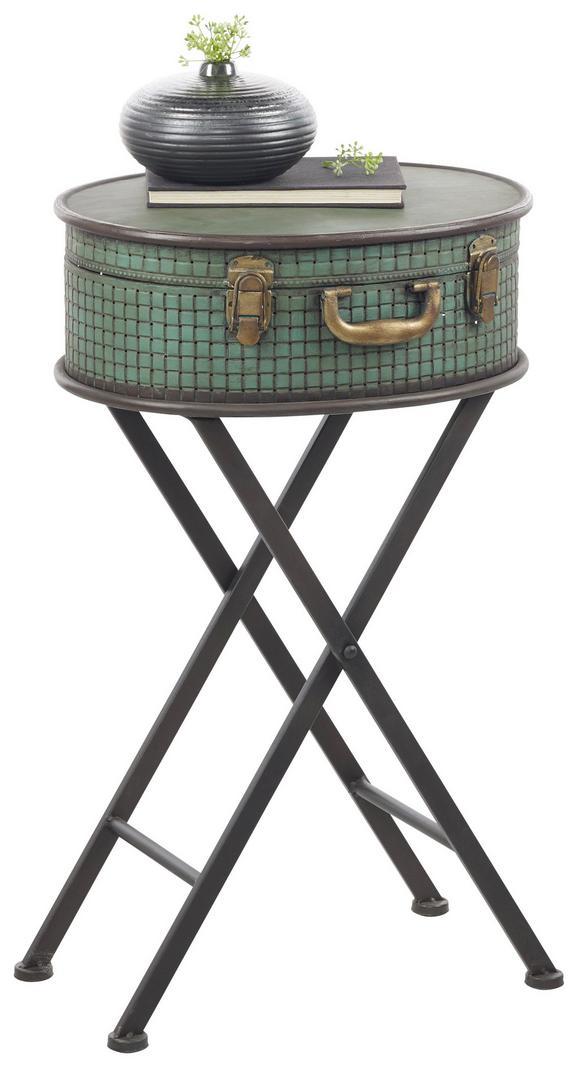 Mizica Evelin - turkizna/črna, Romantika, kovina (39/64,5/31cm) - Mömax modern living