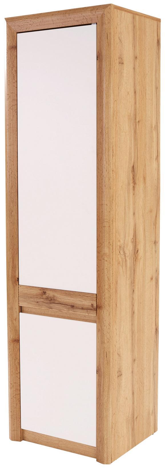 Omara Kashmir New - bela/hrast, Moderno, leseni material (57/192/41cm) - Zandiara