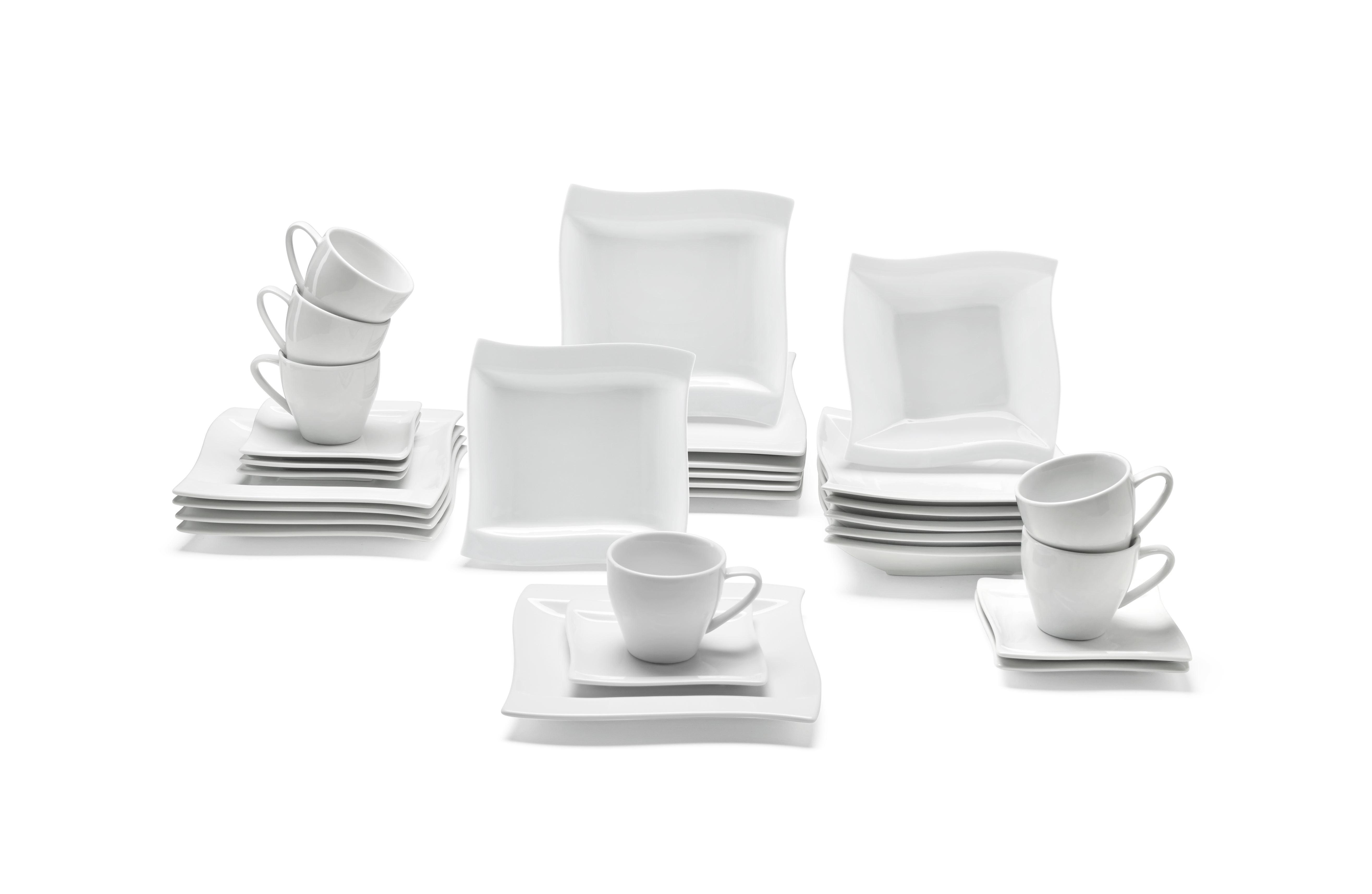 Kombiservice Katja 30-teilig in Weiß - Weiß, Keramik - PREMIUM LIVING