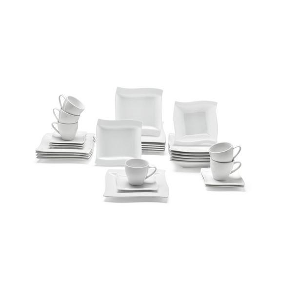 Kombiservice Katja aus Porzellan, 30-teilig - Weiß, Keramik - Premium Living