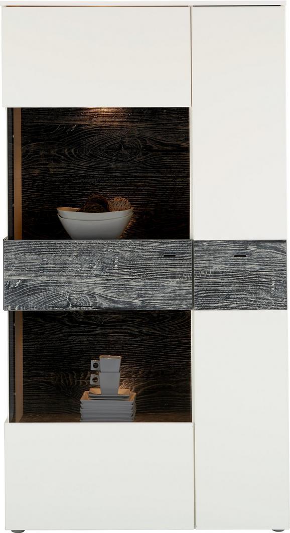 Félmagas Szekrény Leeds - Tölgyfa/Szürke, modern, Faalapú anyag/Műanyag (90,1/168,1/41,3cm) - Modern Living