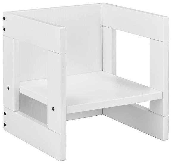 Otroški Stol Pan - bela, Moderno, les (35/35/35cm) - Mömax modern living
